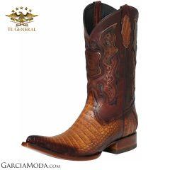 El General Boots Piel Exotica Caiman Belly Orange 122528