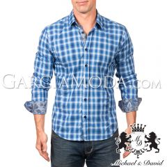Camisa Michael & David Luxury Menswear MD-584 - Blue