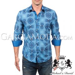 Camisa Michael & David Luxury Menswear MD-625-Blue