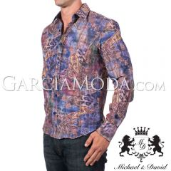 Michael & David Luxury Menswear MD-707 Multi Color - MULTI PAISLEY