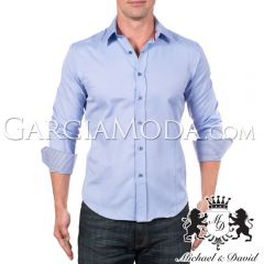 Camisa Michael & David Luxury Menswear MD-721-Blue