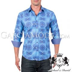 Camisa Michael & David Luxury Menswear MD-734-Blue