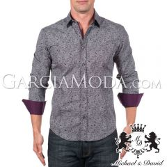 Camisa Michael & David Luxury Menswear MD-713-Black