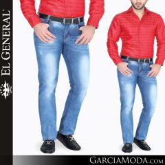 Pantalon Vaquero El General Western Wear 34525 azul