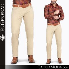 Pantalon Vaquero El General Western Wear 41158 khaki