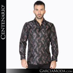 Camisa Vaquera Centenario Western Wear 42829 negro rosa