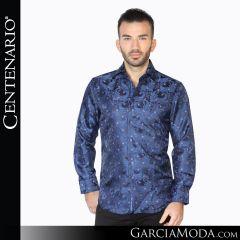 Camisa Vaquera Centenario Western Wear 42830 negro azul