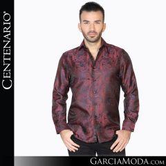 Camisa Vaquera Centenario Western Wear 42831 negro rojo