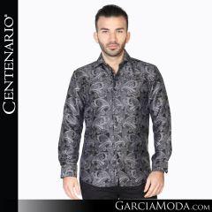 Camisa Vaquera Centenario Western Wear 42832 negro plata