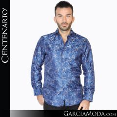 Camisa Vaquero Centenario Western Wear 42834 azul negro
