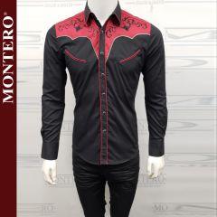 Camisa Vaquera Montero Western 3517 Negra