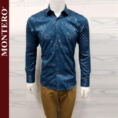 Camisa Vaquera Montero Western 0725 Teal