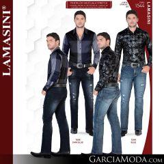 Pantalon Vaquero Lamsaini Western 1544-Dark-Blue-Blue