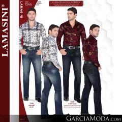 Pantalon Vaquero Lamsaini Western 1546-Medium-Blue-Dark-Blue