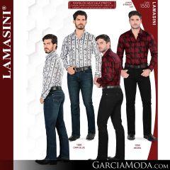 Pantalon Vaquero Lamsaini Western 1550-Dark-Blue-Negro