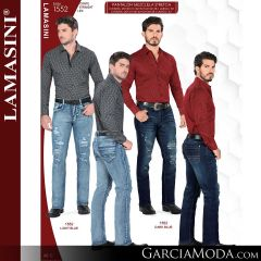 Pantalon Vaquero Lamsaini Western 1552-Light-Blue-Dark-Blue