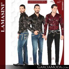 Pantalon Vaquero Lamsaini Western 1847-Dark-Blue-Black