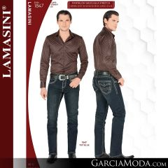 Pantalon Vaquero Lamsaini Western 1847-Tint-Blue