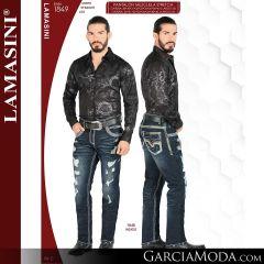 Pantalon Vaquero Lamsaini Western 1849-Indigo