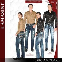 Pantalon Vaquero Lamsaini Western 1849-Tint-Blue-Light-Blue
