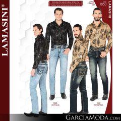 Pantalon Vaquero Lamsaini Western 1850-Light-Blue-Darkstone