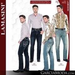 Pantalon Vaquero Lamsaini Western 1855-Tint-Blue-Light-Blue