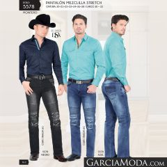 Pantalon Montero Western 5578 Negro Azul