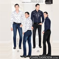 Pantalon Montero Western 5587 Navy 5588 Negro