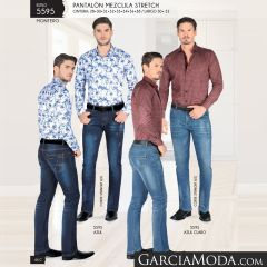 Pantalon Montero Western 5595 Azul Azul Claro
