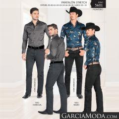 Pantalon Montero Western 5601 Charcoal Negro