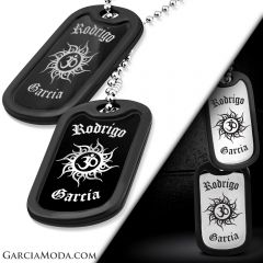 Spiritual OM 316L Personalized Stainless Steel Military Dog Tags